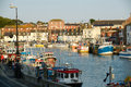Weymouth harbour england view of the in dorset great britain Stock Image