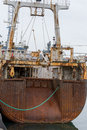Whale catcher vessel a rusty whaler in harbor Royalty Free Stock Images