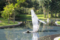 Whale model in city garden at klcc outdoor kuala lumpur malaysia Royalty Free Stock Photography