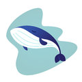 Whale - modern vector flat illustration.