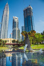 Whale sculpture at the city park near twin towers, in Kuala Lumpur. Malaysia Royalty Free Stock Photo