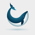 Whale symbol vector illustration of design Stock Photos