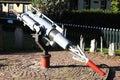 Whaling-gun from the Willem Barendsz, Hollum, Ameland Royalty Free Stock Photo