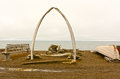 Whaling Monument in a Native Whaling Village Royalty Free Stock Photo