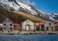 Whaling village abandoned after all the whales were killed in 1920's Royalty Free Stock Photo