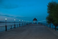 Wharf evening at the samarkand reservoir Stock Photography