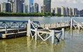 Wharf quay in guangzhou china or zhujiang river city Royalty Free Stock Photos