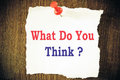 What do you think question write Royalty Free Stock Photo