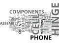 What Enables You To Flip Your Cell Phone Open Word Cloud Royalty Free Stock Photo