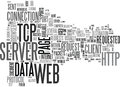 What Happens From Server To Web Browser Word Cloud