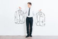 What jacket shall I choose? Royalty Free Stock Photo