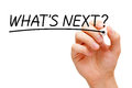 What is Next Black Marker Royalty Free Stock Photo