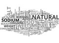 What Role Does Sugar And Salt Portray In A Healthy Diet Word Cloud