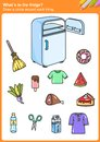 What´s in the fridge? Draw a circle around each thing. Royalty Free Stock Photo