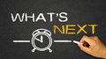 What s next on blackboard background Royalty Free Stock Image