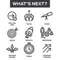 What`s Next Icon Set