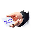 What s your excuse question write Royalty Free Stock Photography