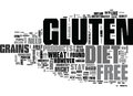 What Should You Know About Gluten Free Diet Word Cloud Royalty Free Stock Photo