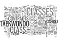 What Is Taekwondo Class Got To Do With It Word Cloud