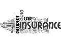 What To Expect After You Ve Had An Auto Accident Or Two Word Cloud
