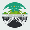 What will you choose concept. Vector illustration Royalty Free Stock Photo