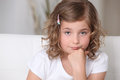 What are you staring at grumpy little girl is in a foul mood Stock Images