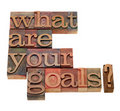 What are your goals question Royalty Free Stock Photography