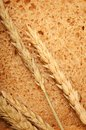 Wheat bread and grain ears Royalty Free Stock Photo