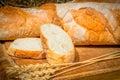 Wheat bread handmade rustic still life Royalty Free Stock Photo