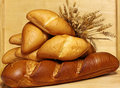 Wheat and Breads Royalty Free Stock Photos