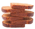 Wheat brown bread slices on white background Royalty Free Stock Photo