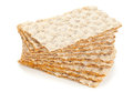 Wheat crispbread slices multiple of over white background Royalty Free Stock Image