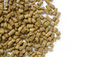 Wheat distiller pellets Stock Photo