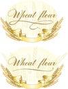 Wheat flour design Royalty Free Stock Photo