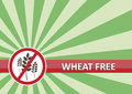 Wheat Free Banner Royalty Free Stock Image