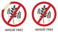 Wheat free icons vector stickers and for allergen products Stock Photos