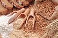 Trigo granos y harina