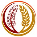 Wheat grains logo Royalty Free Stock Photography