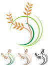 Wheat grains logo Royalty Free Stock Photo
