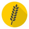 Wheat icon with long shadow