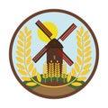 Mill has wheat - Wheat grains logo