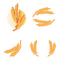 Wheat products logo elements Royalty Free Stock Photo