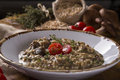 Wheat risotto with meat Royalty Free Stock Photo