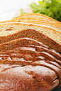 Wheat and rye bread Stock Photo