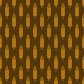 Wheat seamless pattern