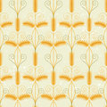 Wheat seamless retro styled ornament Royalty Free Stock Photography