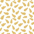 Wheat spike. Grain plant silhouette. Wheat pattern. Template vector Royalty Free Stock Photo