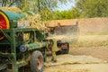 Wheat threshing Royalty Free Stock Photo