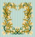 Wheaten wallpaper art nouveau style