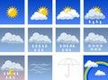 Wheather symbols Stock Images